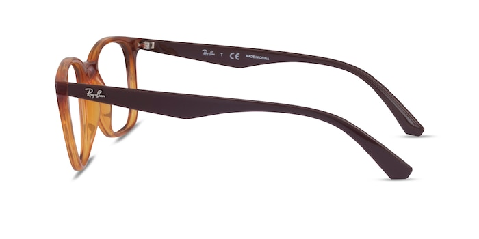 Ray-Ban RB7177 Tortoise Brown Plastic Eyeglass Frames from EyeBuyDirect