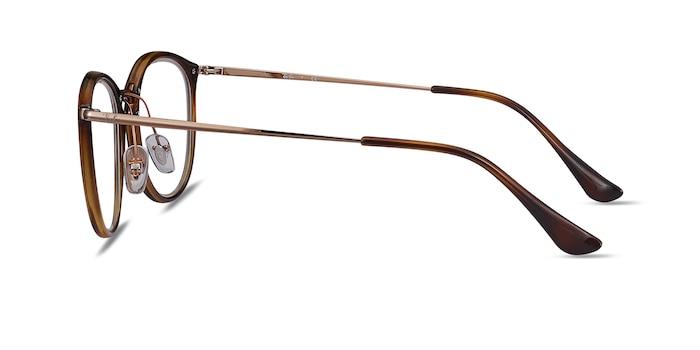 Ray-Ban RB7140 Tortoise Bronze Metal Eyeglass Frames from EyeBuyDirect