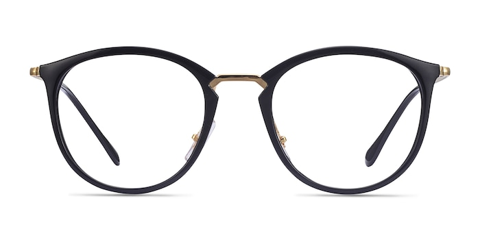 Ray-Ban RB7140 Black Gold Plastic-metal Eyeglass Frames from EyeBuyDirect