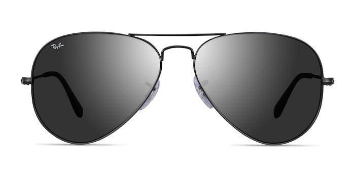 Ray-Ban RB3025 Black Metal Sunglass Frames from EyeBuyDirect