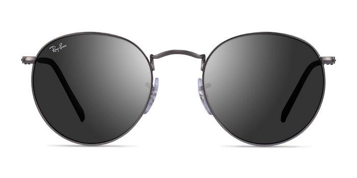 Ray-Ban RB3447 Matte Gunmetal Metal Sunglass Frames from EyeBuyDirect