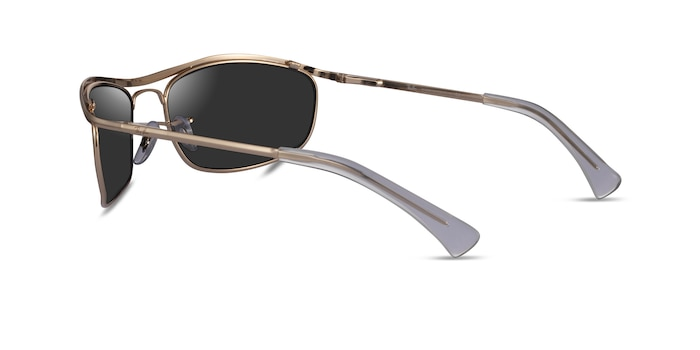 Ray-Ban RB3119 Gold Metal Sunglass Frames from EyeBuyDirect