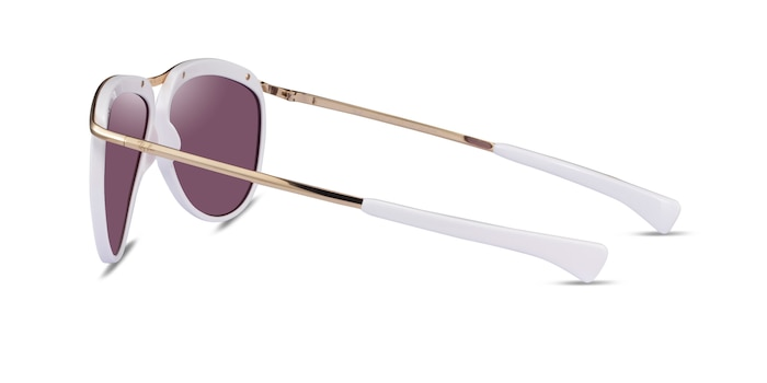 Ray-Ban RB2219 White Metal Sunglass Frames from EyeBuyDirect