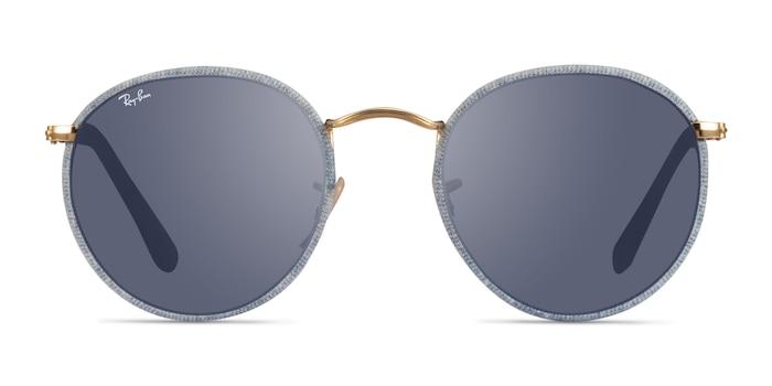Ray-Ban RB3475Q Light Blue Metal Sunglass Frames from EyeBuyDirect