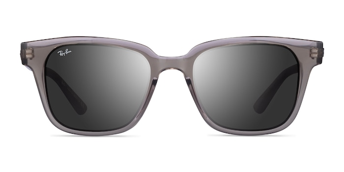 Ray-Ban RB4323 Transparent Gray Plastic Sunglass Frames from EyeBuyDirect