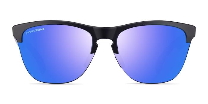 Oakley Frogskins Matte Black Matte Clear Plastic Sunglass Frames from EyeBuyDirect