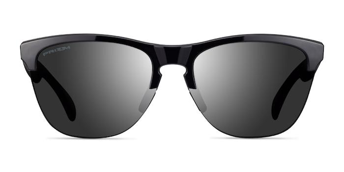 Oakley Frogskins Polished Black Plastic Sunglass Frames from EyeBuyDirect