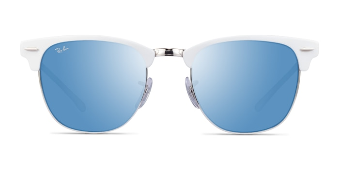 Ray-Ban RB3716 White On Silver Acetate Sunglass Frames from EyeBuyDirect