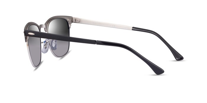 Ray-Ban RB3716 Black On Silver Acetate Sunglass Frames from EyeBuyDirect