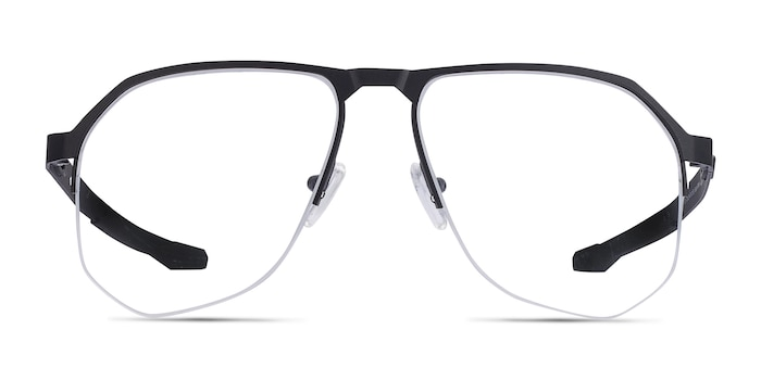 Oakley Tenon Satin Black Titanium Eyeglass Frames from EyeBuyDirect