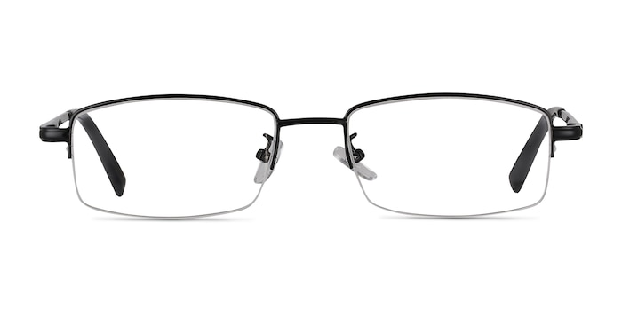 Craig Black Metal Eyeglass Frames from EyeBuyDirect