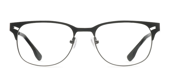 Merrion Black Metal Eyeglass Frames from EyeBuyDirect
