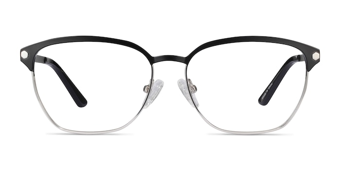 Berkeley Black Metal Eyeglass Frames from EyeBuyDirect