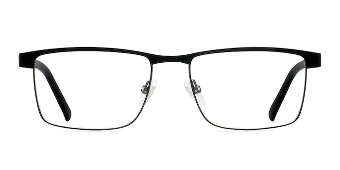 Time Square Black Metal Eyeglass Frames from EyeBuyDirect