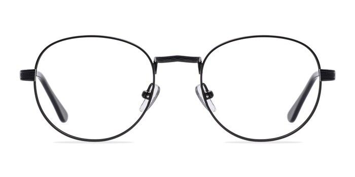 Belleville Matte Black  Metal Eyeglass Frames from EyeBuyDirect