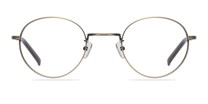 Amsterdam Bronze Metal Eyeglass Frames from EyeBuyDirect