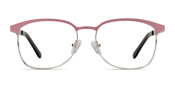 Dancer Pink/Silver Metal Eyeglass Frames from EyeBuyDirect