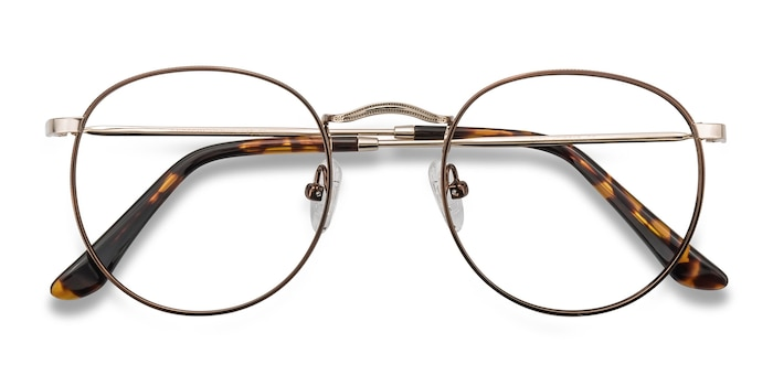 Brown/Golden Daydream -  Classic Metal Eyeglasses