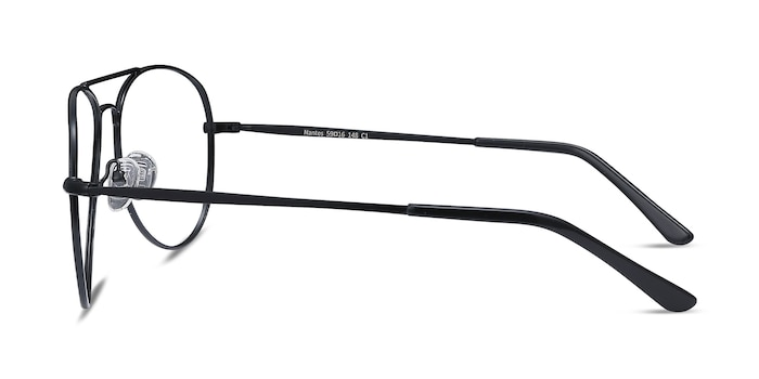 Nantes Black Metal Eyeglass Frames from EyeBuyDirect