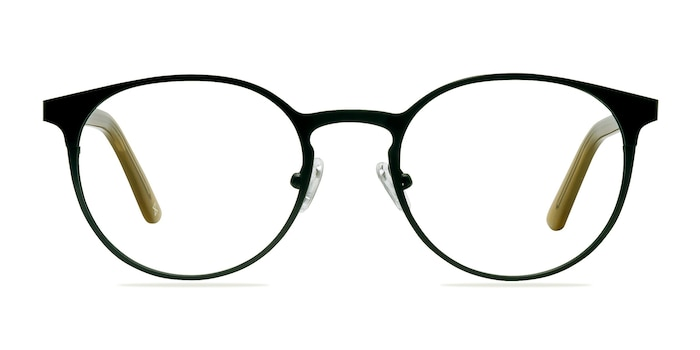 Outline Black Steel/Acetate Acetate-metal Montures de Lunette de vue d'EyeBuyDirect