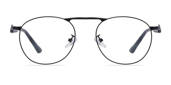 Tarantino Matte Black Metal Eyeglass Frames from EyeBuyDirect