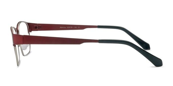 Admire Matte Burgundy Metal Eyeglass Frames from EyeBuyDirect