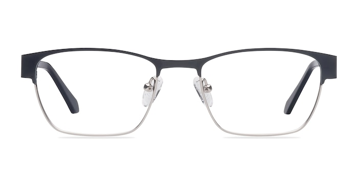 Admire Black Silver Metal Eyeglass Frames from EyeBuyDirect