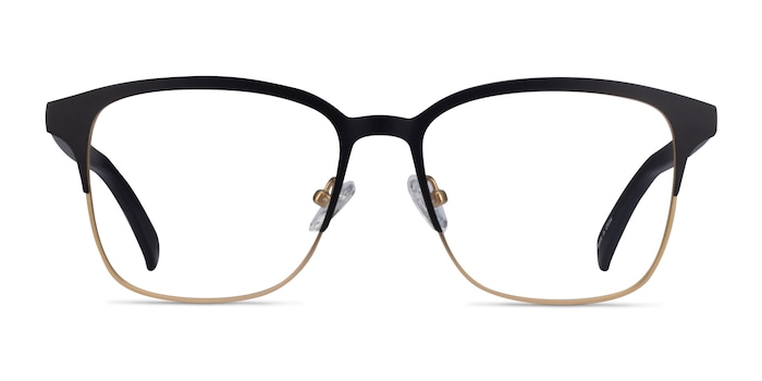 Intense Matte Black/Golden  Acetate-metal Eyeglass Frames from EyeBuyDirect