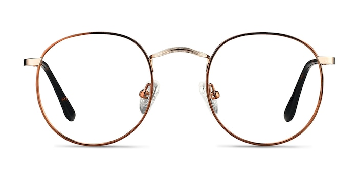Daydream Brown Golden Metal Eyeglass Frames from EyeBuyDirect