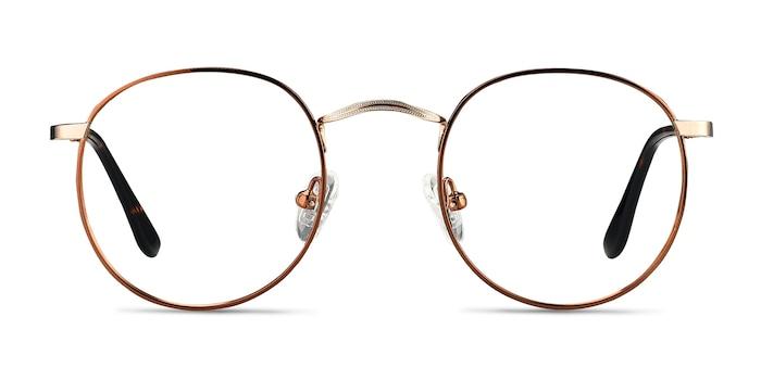 Daydream Brown Golden Métal Montures de lunettes de vue d'EyeBuyDirect