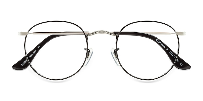 Black Silver Daydream -  Metal Eyeglasses