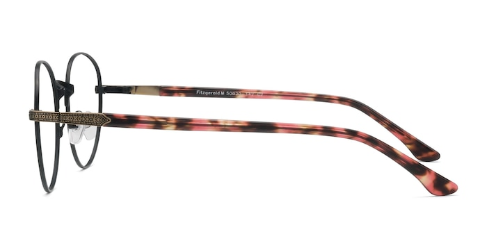 Fitzgerald Matte Black and Tortoise Metal Eyeglass Frames from EyeBuyDirect