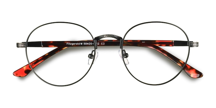 Black & Gunmetal Fitzgerald -  Fashion Metal Eyeglasses