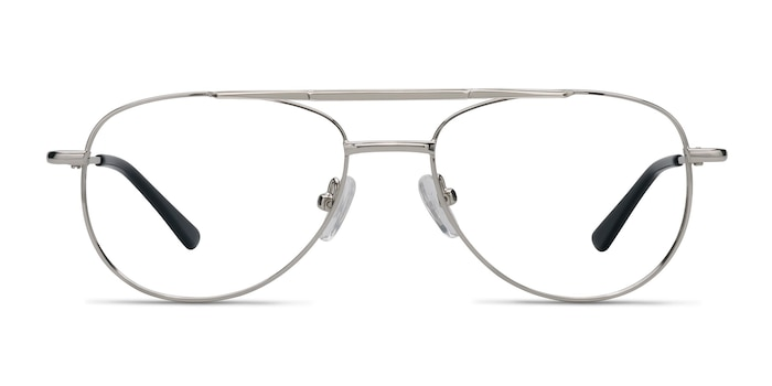 Tasker Silver Metal Eyeglass Frames from EyeBuyDirect