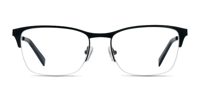 Time Black Metal Eyeglass Frames from EyeBuyDirect