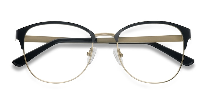 Black Golden The Moon -  Lightweight Metal Eyeglasses