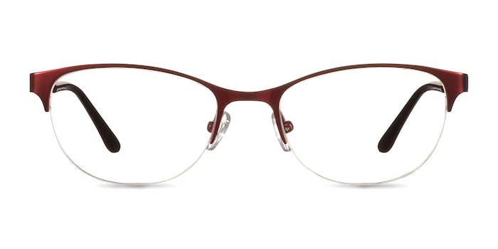 Melody  Red  Metal Eyeglass Frames from EyeBuyDirect
