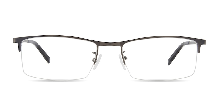 Vega Gunmetal Metal Eyeglass Frames from EyeBuyDirect