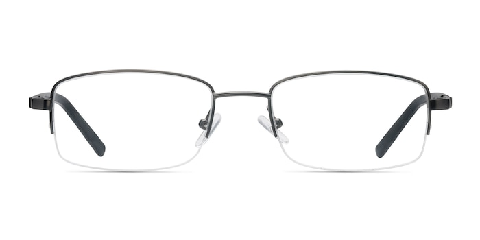 Hiro Gunmetal Metal Eyeglass Frames from EyeBuyDirect