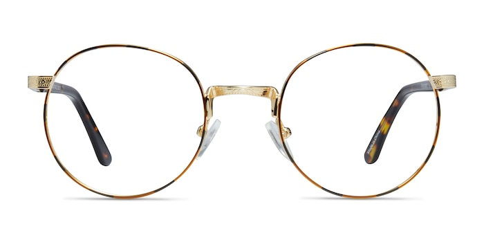 Basquiat Golden/Tortoise Metal Eyeglass Frames from EyeBuyDirect