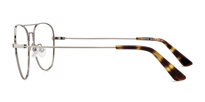 Harrier Gunmetal Metal Eyeglass Frames from EyeBuyDirect