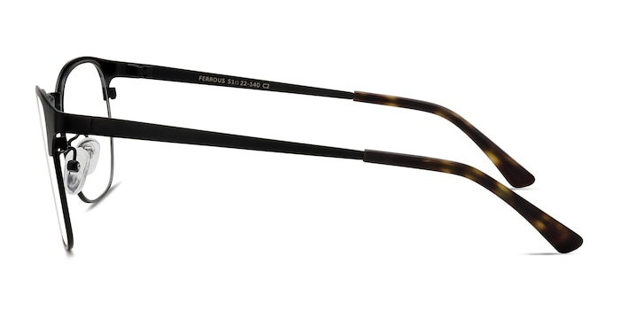 Ferrous Black Metal Eyeglass Frames from EyeBuyDirect