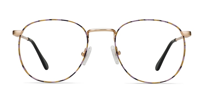 Blossom Floral Golden Metal Eyeglass Frames from EyeBuyDirect