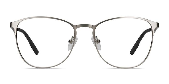 Ember Silver Metal Eyeglass Frames from EyeBuyDirect