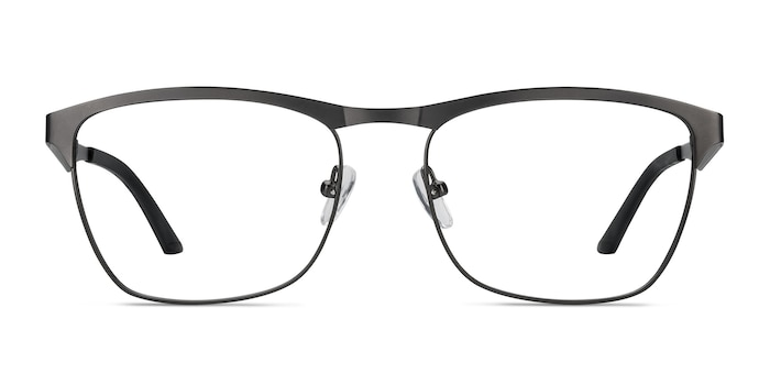 Foundry Gunmetal Metal Eyeglass Frames from EyeBuyDirect