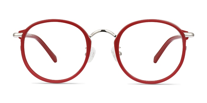 Carnival Matte Red Plastic-metal Eyeglass Frames from EyeBuyDirect