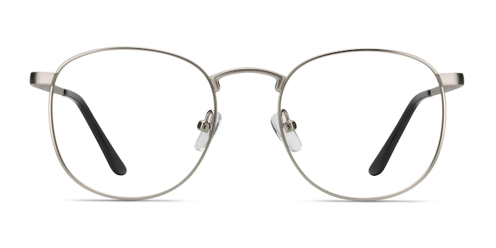 St Michel Silver Metal Eyeglass Frames from EyeBuyDirect