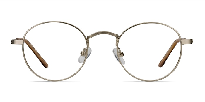 Cupertino Silver Metal Eyeglass Frames from EyeBuyDirect
