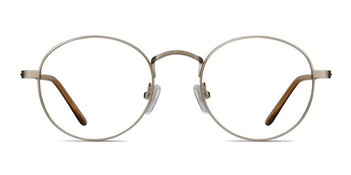 Cupertino Silver Metal Eyeglass Frames from EyeBuyDirect