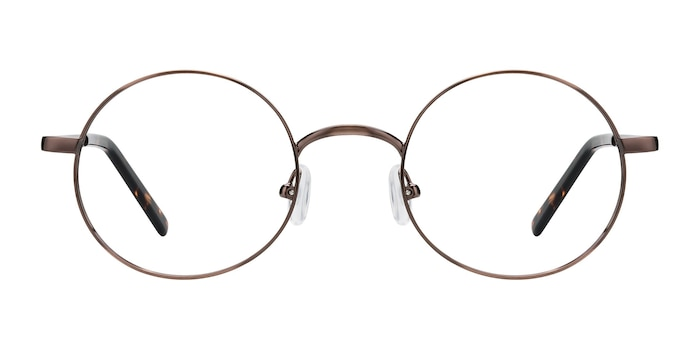 Socrates Brown Tortoise Metal Eyeglass Frames from EyeBuyDirect